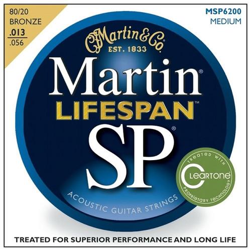 마틴 어쿠스틱 기타줄 SP LifeSpan MEDIUM (MSP 6200) - 80/20 Bronze