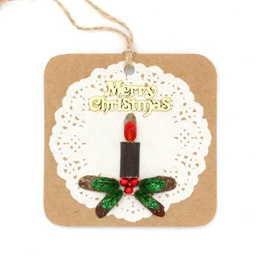 크리스마스 미니엽서 만들기 - 촛불