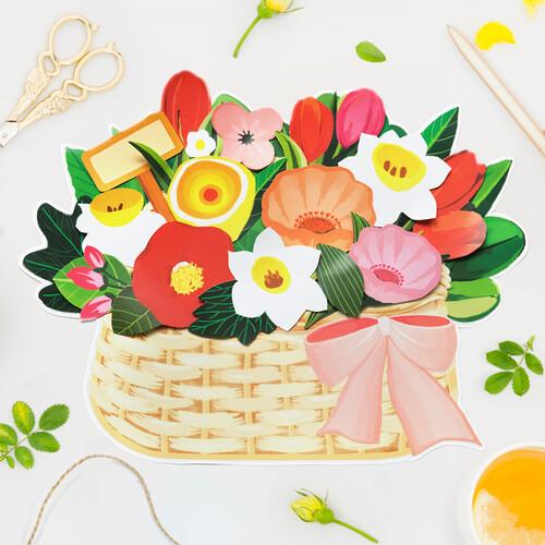 피콕 꽃 바구니 만들기(꽃 5장 바구니 5장 1세트)