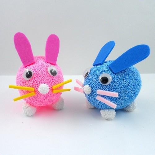 [만들기패키지] 클레이 달걀공예 토끼 5인용(달걀모형10개)