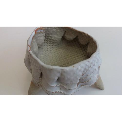 도자기 줄무늬 화분 (소)