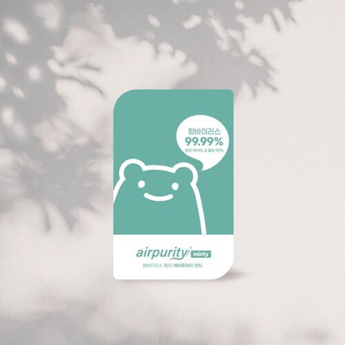 항바이러스 스티커 에어퓨리티 민티 (1팩, 5매)
