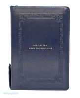 큰글자 굿데이 성경전서 중 합본(색인/친환경PU소재/지퍼/네이비/NKR72WBU)
