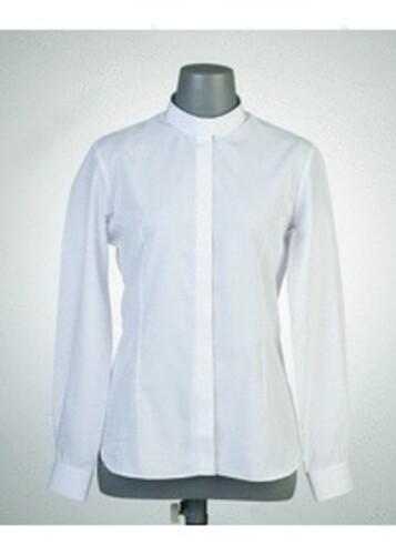 목회자셔츠-오메가셔츠 여성흰색 (로만카라)