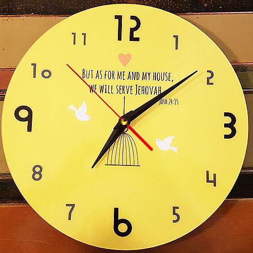 데코헤븐리 무소음 성경말씀 디자인 시계-CK0001 오직 나와 내집은 여호와를 섬기겠노라