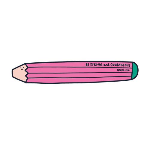 책갈피 페이퍼볼펜 06.pencil-Be strong