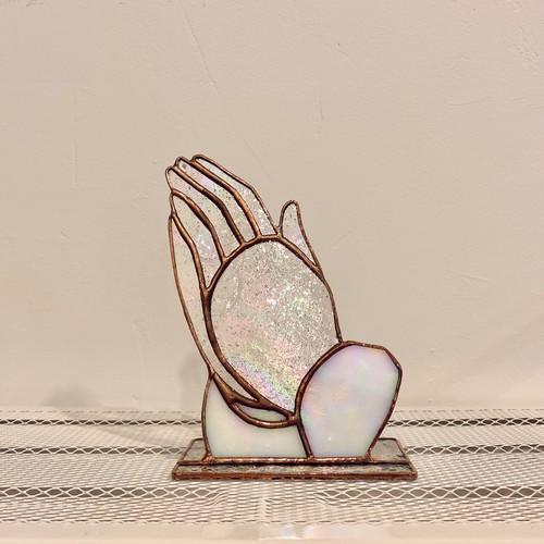 기도하는 손 - 캔들홀더 (캔들받침)