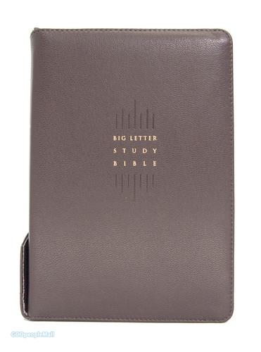 큰글자 스터디성경 새찬송가 대합본 (색인/천연양피/지퍼/다크초콜릿)