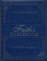Lux-Leather Blue - Faiths Checkbook - One Minute Devotions (Imitation Leather)
