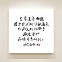 순수캘리 중국어말씀액자 - CSA0013 베드로전서 5장 8절