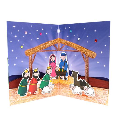 [만들기패키지] 아기예수 팝업카드 (5인용)