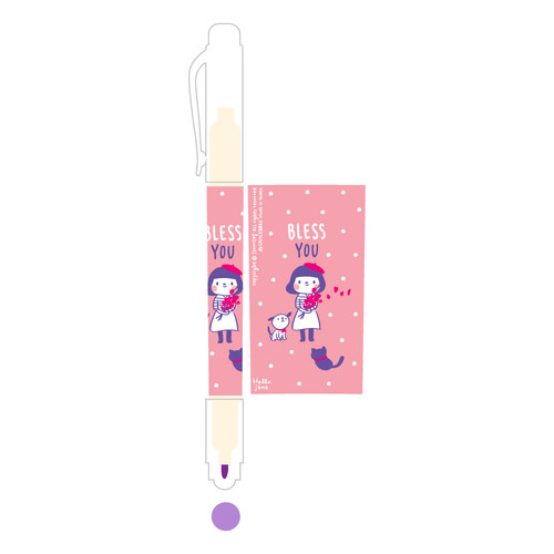 그레이스벨 헬로제인 양면형광펜 03.Purple
