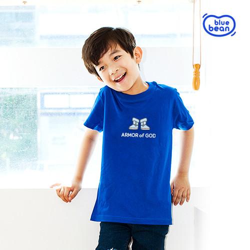 블루빈 전신갑주 티셔츠-복음의 신발(코발트)