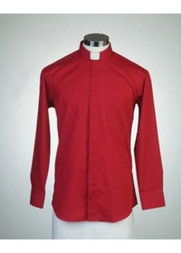 목회자셔츠-오메가셔츠 빨강 (로만카라)