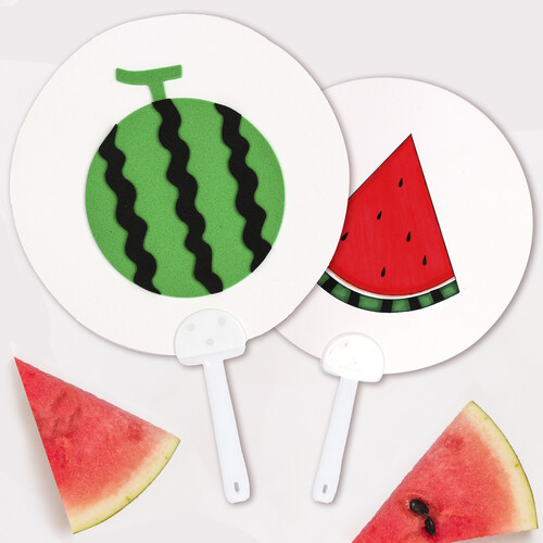 [만들기패키지] 왕수박 부채 (5개이상구매가능)