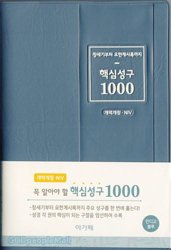 핵심성구 1000 : 개역개정, NIV (인디고블루)