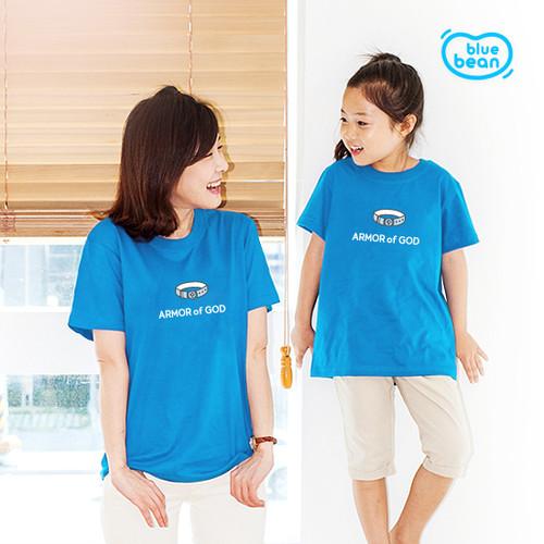블루빈 전신갑주 티셔츠-진리의 허리띠(아쿠아)