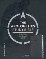 CSB: Apologetics Study Bible, Charcoal Cloth Over Board, Indexed