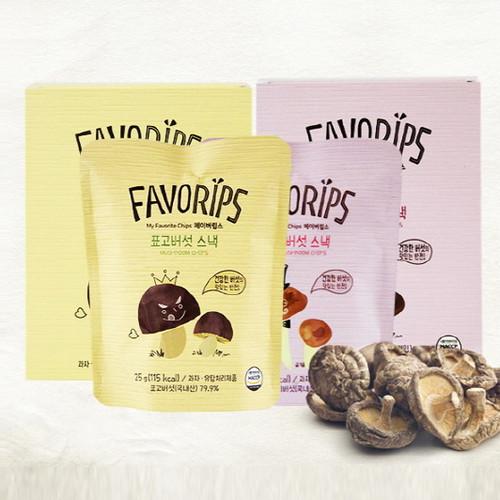 믿음영농조합 건강버섯야채칩 페이버립스 버섯스낵 선물용 (25g*4봉)