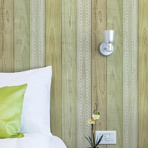 HW-22513 레이스우드 그린 나무 무늬목시트지