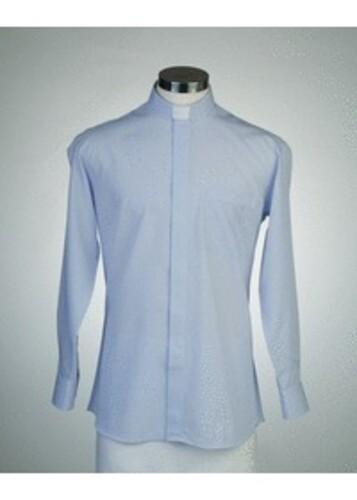 목회자셔츠-오메가셔츠  파랑 (로만카라)