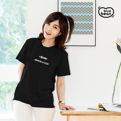 블루빈 전신갑주 티셔츠-말씀의 검(블랙)