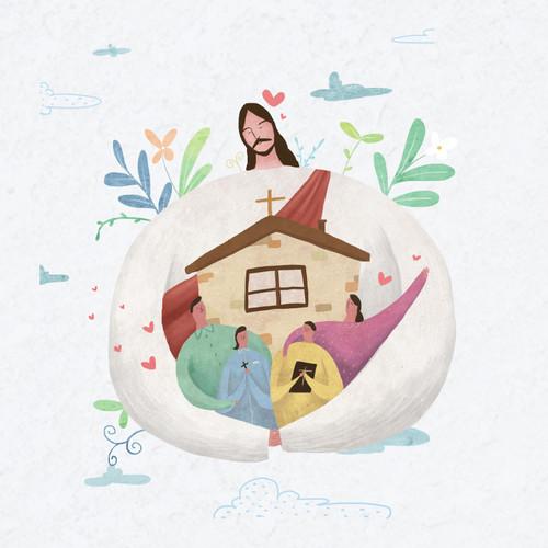 성경적인 가정 스티커 (약 1,000매)