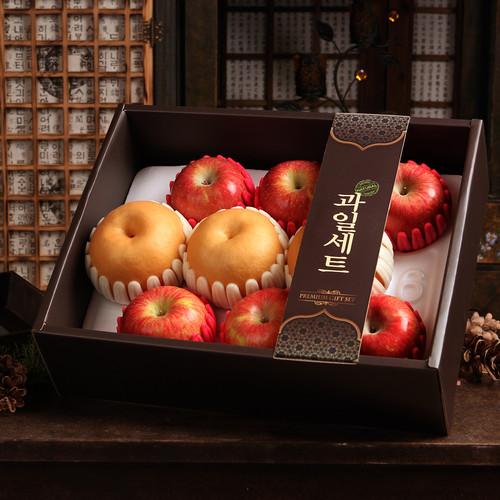 [선물세트] 정다운 사과배세트3.4kg(사과6,배3개)