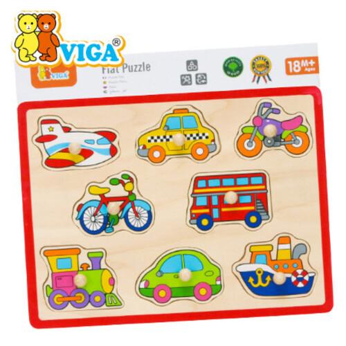 비가 원목 꼭지퍼즐 - 교통