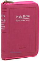 Holy Bible 개역한글판 성경전서 미니 단본(색인/이태리신소재/지퍼/레드핑크/42HC)