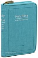 Holy Bible 개역한글판 성경전서 미니 단본(색인/이태리신소재/지퍼/스카이블루/42HC)