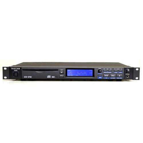 TASCAM CD-01 U 플레이어 (렉 타입의 CD 플레이어)