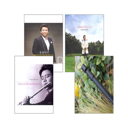 송솔나무의 음반 & 틴휘슬 V2 (D키) 세트(전4종)