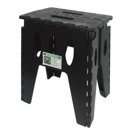 (한셀)다용도 접이식 키높이 발판 매직의자 / 블랙 HS