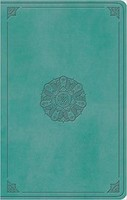 ESV: Large Print Value Thinline Bible (TruTone, Turquoise, Emblem Design)