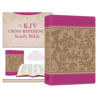 KJV: Cross Reference Study Bible Compact (Peony Blossoms, Imitation Leather)