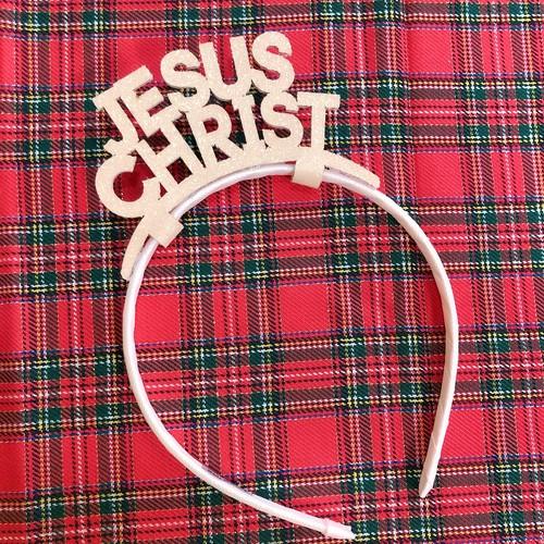 [크리스마스] 예수님 반짝이 머리띠