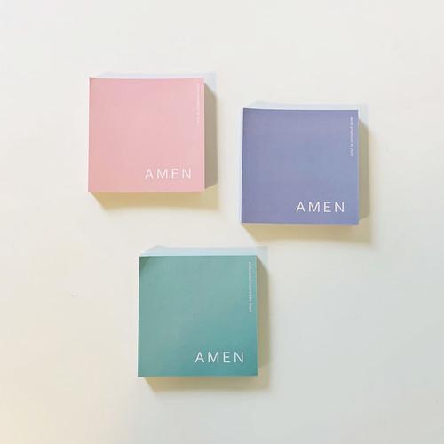 아멘메모패드AMEN memo pad / 떡메모지 (3color,100매)