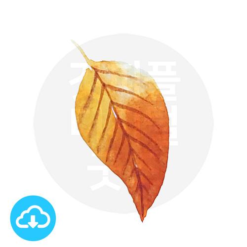 디지털 그림자료 4 브라운나뭇잎 by 해피레인보우 / 이메일발송(파일)