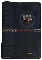 중국어 톰슨 주석성경 대단본 (간체자/색인/지퍼/이태리신소재/검정)