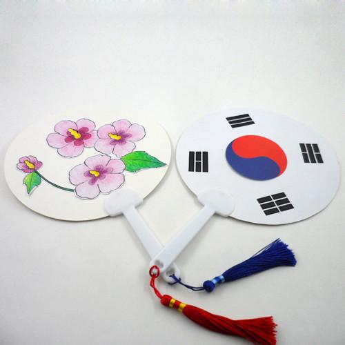 [만들기패키지] 태극기 무궁화부채 5인용