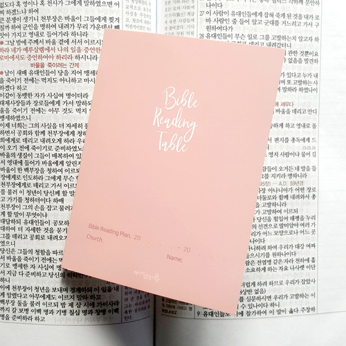 새가깃드는나무 성경읽기표(클래식핑크)-1속 10매