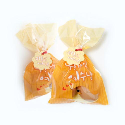 부활 계란 빵끈포장지(20매) - 노랑(6831-4)