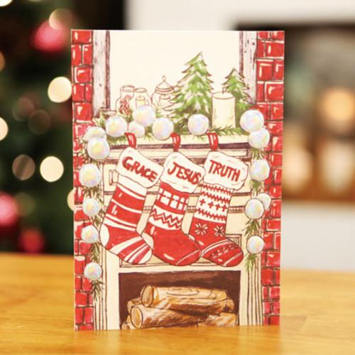 하베스터 크리스마스 카드 - 벽난로