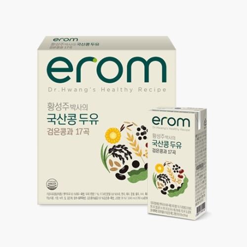 황성주 국산콩 검은콩과 17곡 두유 4박스 (180ml*80팩)
