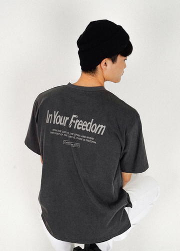IN YOUR FREEDOM T-shirts (charcoal)