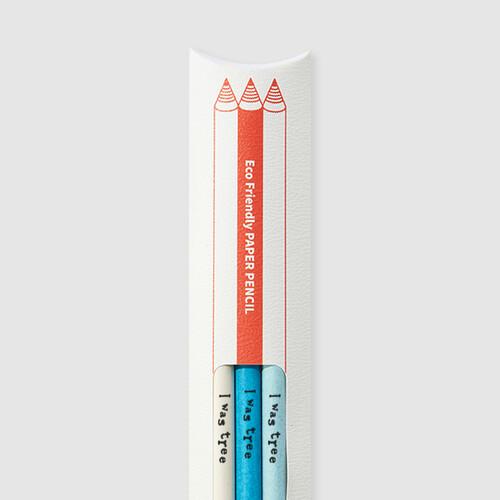 [더사랑 보킷] 친환경문구 재생종이 색연필 (3pcs)