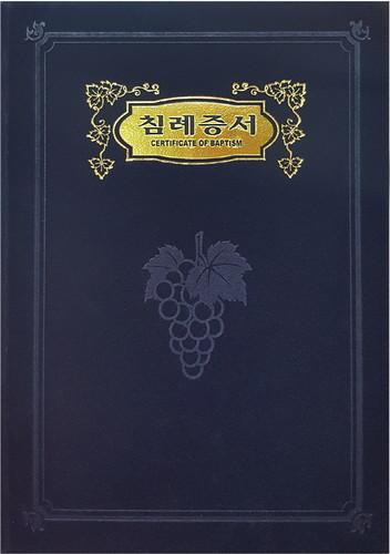 진흥 우단 침례증서(금박/A5) 6304-2