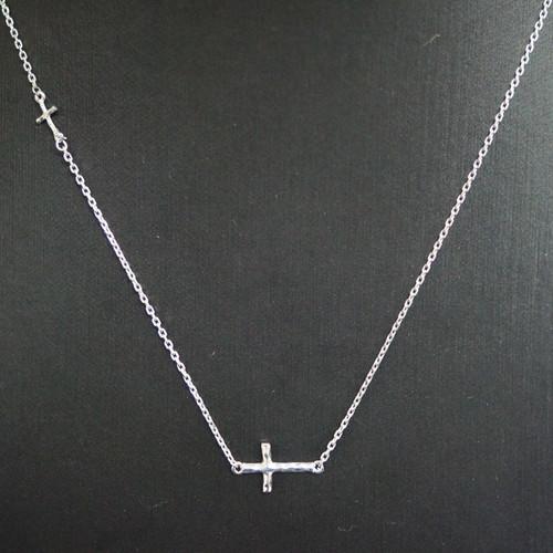 [십자가 목걸이] C-P176C(체인포함) / 실버