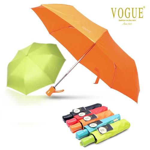 보그 3단 컬러 파스텔 완전자동 우산